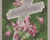Easter Lilies Embossed Vintage Postcard