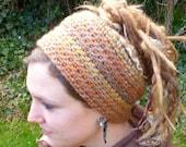 Autumn Hues Head Band, Dread Wrap, Ear Warmer
