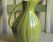 RESERVED for  SAM only Mid-Century Modern USA Chartreuse Pitcher