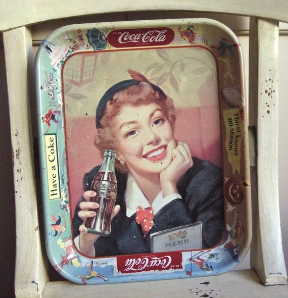 """Vintage Coca-Cola Tray - """"Thirst Knows no Season"""""""
