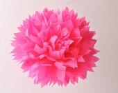 1 Large Tissue Pom Pom - Hot Pink