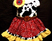 Reserved for Wendy  second payment  Jessie inspired cowgirl butterfly knot dress. Toy Story. Cowgirl Fun