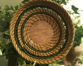 Southern Long Leaf Pine Needle Basket with Beading
