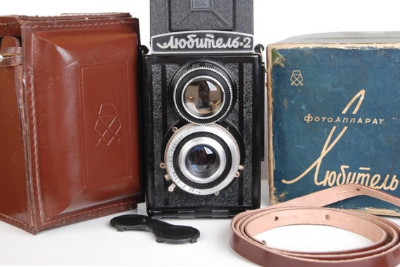 Old LOMO Lubitel 2 Soviet Voïgtlander Brilliant copy Vintage TLR Camera Kit USSR
