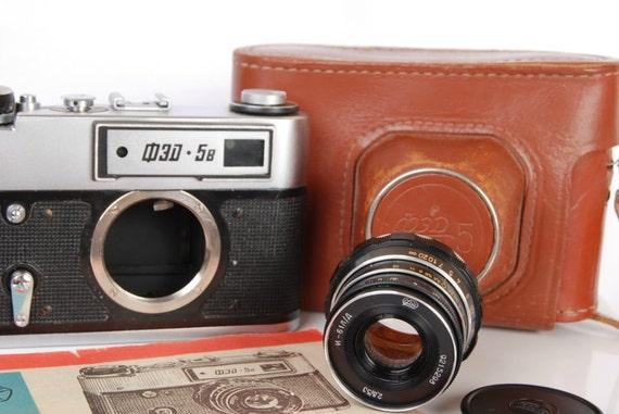 Fed 5 B Russian Soviet LEICA RF 35mm USSR Camera Industar 61L/D lens in Case