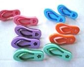 Flip Flops Novelty Craft Buttons