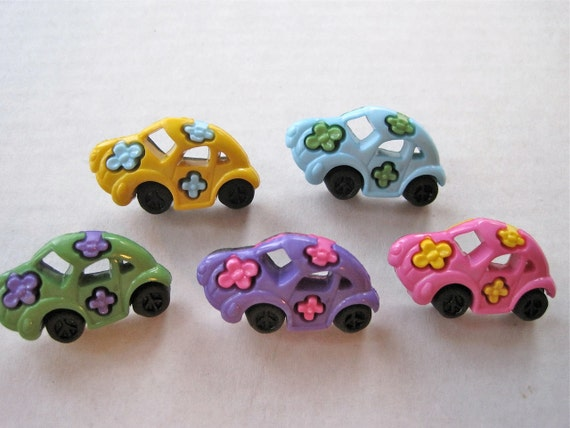 Groovy Cars Craft Novelty Sewing Buttons