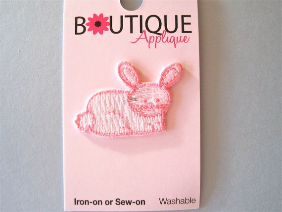 Bunny Rabbit  Applique Iron On Patch