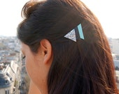Hairclip Leather&Glitter