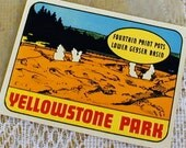 Vintage Yellowstone National Park Decal 1960s