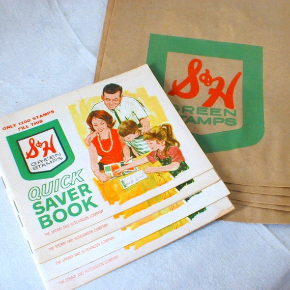 S&H Green Stamps Vintage  Books n Bags
