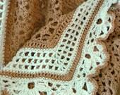 Un-dyed Organic Cotton Coffee & Cream Baby Blanket