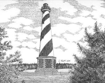 Cape Hatteras  Lighthouse - 11 x 14 Matted Print