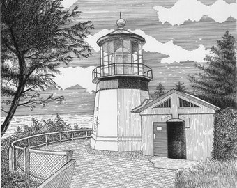 Cape Meares Lighthouse - 11 x 14 Matted Print