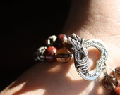 Poppy Jasper Bracelet with Angel Toggle Clasp - Free Shipping in the USA