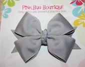 Boutique Light Gray Hair Bow