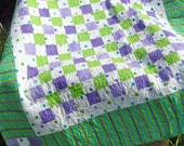 Purple and Green baby quilt