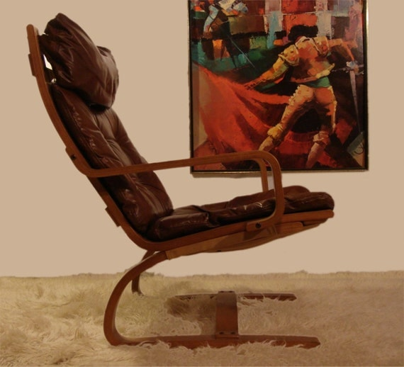 Danish modern westnofa lounge chair iconic vintage design 70s for Iconic modern chairs