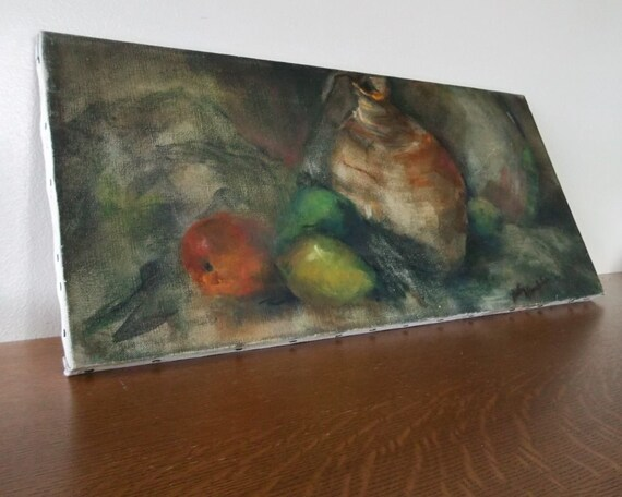 Original Mid Century Oil Painting Signed Still Life Betty Macully Taft Abstract Work