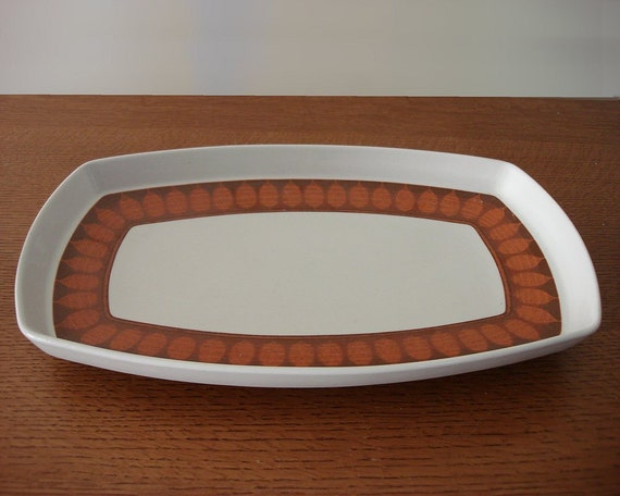 Danish Modern Serving Plate Franciscan Terrra Cotta Discovery 1960s