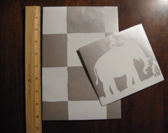 ELEPHANT - Pair of Envelopes - Little Big - Handmade with Fun - D1520
