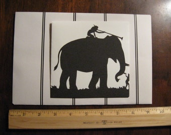 ELEPHANT - Pair of Envelopes - Little Big - Handmade with Fun - D1519