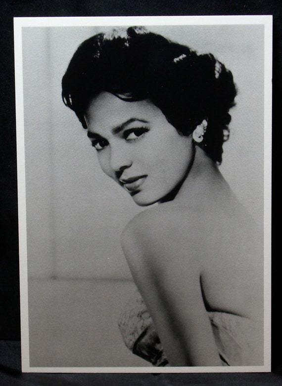 Dorothy Dandridge Vintage Post Card 1st Black Actress Nominated for Oscar