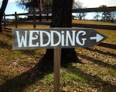 Wedding Signs READY TO SHIP Hand painted Sign. Outdoor Weddings, Country Wedding. Organic Wedding Decorations. Road Signs. Arrow Sign Wood