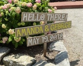 Chic Wedding Signs As Seen on Martha Stewart Weddings.Com YOUR COLOR CHOICE Hand Painted Peronalized Signage