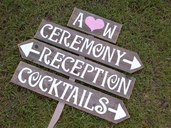 Items Similar To Wedding Signs Reclaimed Wood Initials