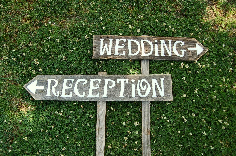 custom wedding signs in brides magazine by
