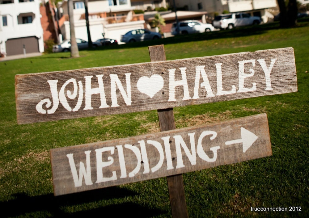 Country Wedding Signs LARGE FONT Hand Painted Signs. Wedding