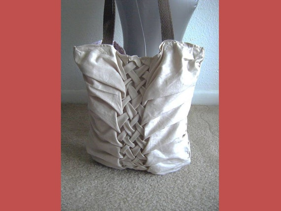 INSTANT DOWNLOAD Sewing Pleated Bag Pattern - Permission sell finish product