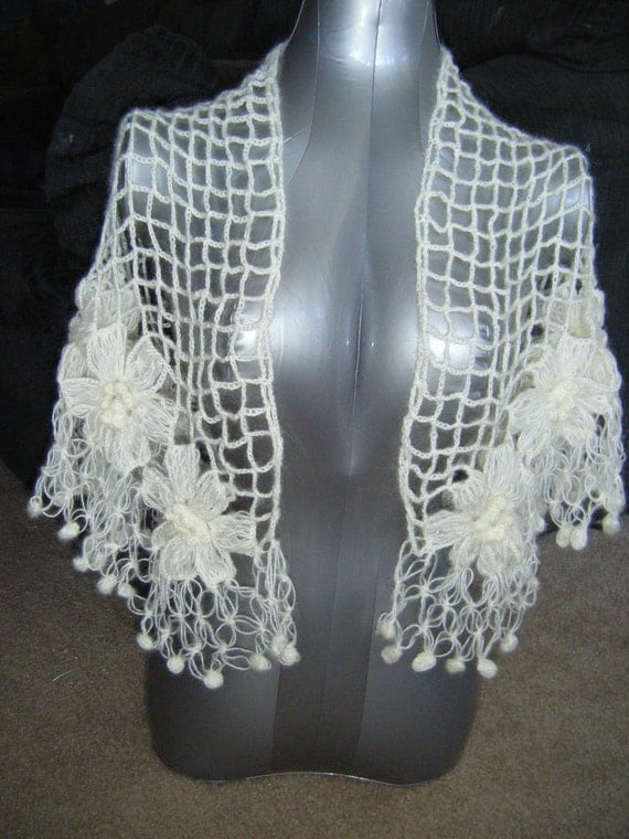 INSTANT DOWNLOAD Bridal Mohair Shawl/Scarf Winter or Summer Unic Size Pattern