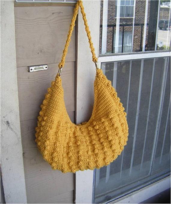INSTANT DOWNLOAD Natalia Hobo Crochet Tote Bag  - Pattern