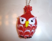 Glass Blown Owl Necklace