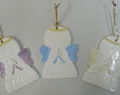 Peace Angel Hanging Ornaments and Decorative Signs - SET of 3 - CUSTOM ORDERS Available