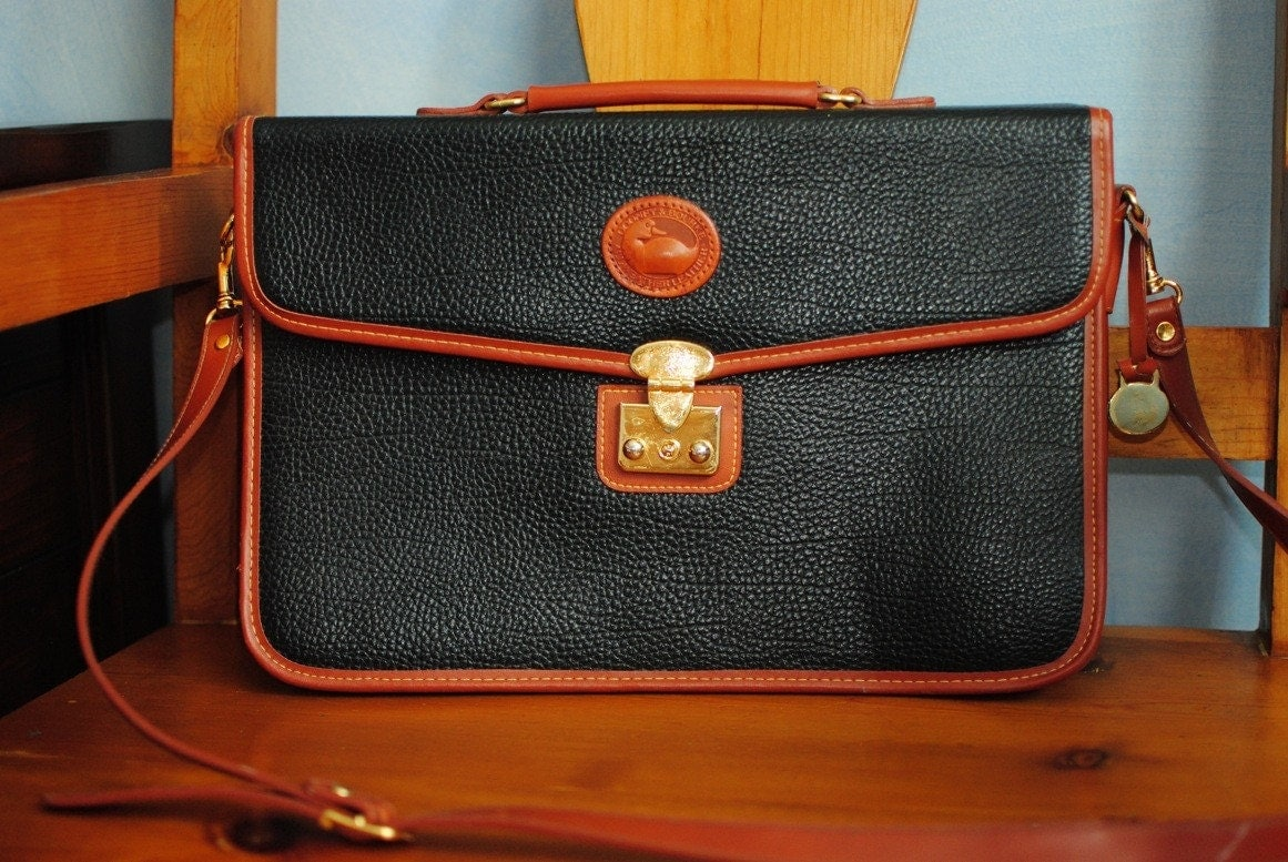 Vintage Dooney Amp Bourke Laptop Bag Briefcase