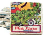 Walt Disney World Vintage Map Coasters - Set of 6