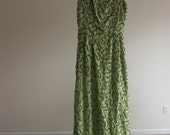 Key Lime Sequined-Lace Gown from the 1960s