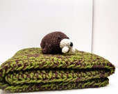 Large Crochet Pet Bed / Blanket / Snuggle / Includes Free Wally The Walrus Dog or Cat Plush Toy