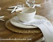 Gray/Silver Dandelion Dinner Napkins (4 piece set)