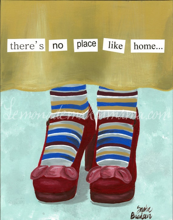 Items similar to there 39 s no place like home art print on etsy for Art sites like etsy