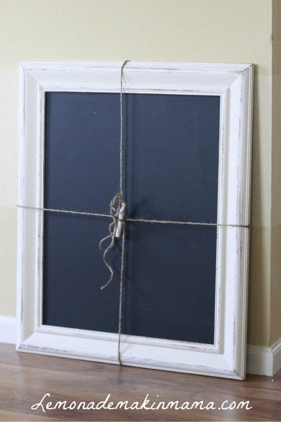 "Large ""Farmhouse White"" Framed Chalkboard"