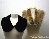 Vintage Faux Fur Collar Stole Lot - 1960's Vintage - Very Fluffy and Large -As Found- 12-22