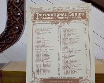 20s Vintage Sheet Music Gatsby  1920s Tarantella by Stephen Heller printed 1928 Op. 85 No. 2