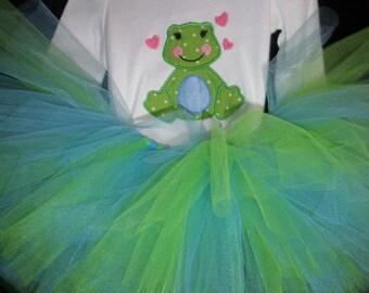 Froggie Tutu, Newborn Tutu, Baby Tutu, Tutus for children, Flower Girl tutu, 1st birthday tutus, birthday tutu, mommy and me tutus
