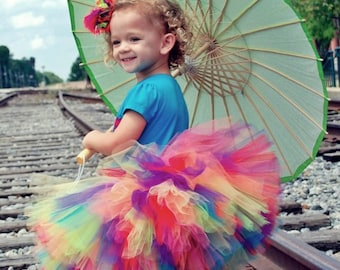 "Tutus ""Lillix Denise""  Rainbow Tutu  Great for Birthdays, Photography Prop, and Dance"