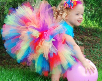 "Tutus ""Lillix Denise"", Rainbow Tutu, Newborn tutus, Baby tutus, Tutus for Children, Mommy and Me Tutus, Toddler Tutus, Baby Girl Tutus"