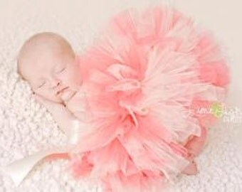 Coral Baby Tutu  Great for Birthdays, Photography Prop, and Dance